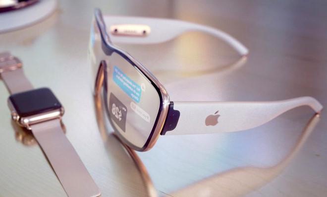Ảnh dựng mô tả chiếc kính thực tế ảo được coi là sản phẩm hứa hẹn tiếp theo của Apple.