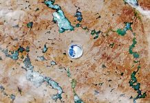 Ảnh: USGS/NASA Landsat.
