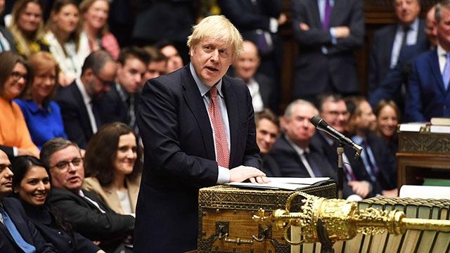 Thủ tướng B.Johnson phát biểu ý kiến về Brexit tại Hạ viện Anh. Ảnh: NBC NEWS