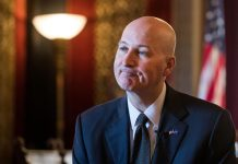 Nebraska Gov. Pete Ricketts BRENDAN SULLIVAN/THE WORLD-HERALD